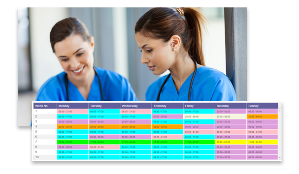 Image: Design rota patterns for junior doctors.